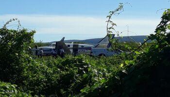 Avião com vacinas contra a Covid-19 bate em jumento após tentativa de pouso