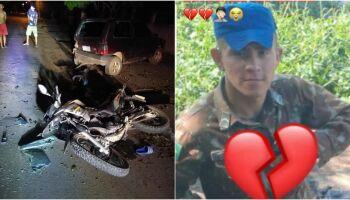 Soldado bate moto em carro estacionado e morre em Porto Murtinho