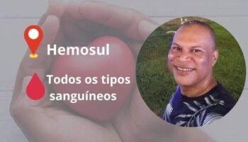 Antonio precisa de doação de sangue em Campo Grande