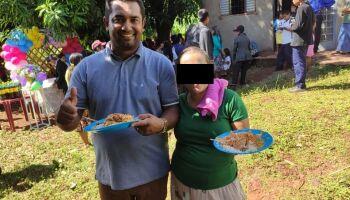 Vice-prefeito se aglomera em festa de aldeia indígena e debocha em Antônio João