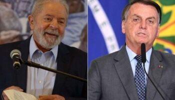 Pesquisa afirma que Lula vence Bolsonaro no 1º turno com 49%