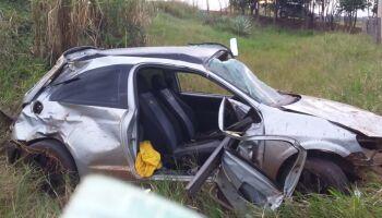 Rapaz capota carro e morre em Anaurilândia