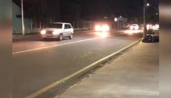 Vídeo: sem faixa de pedestre, moradores penam para atravessar Brilhante
