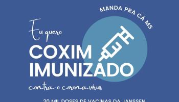 Virou moda: Coxim quer mais doses para vacinar toda população