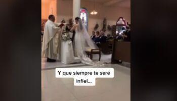 Vídeo: noivo promete ser infiel à esposa e surpreende convidados em casamento