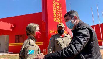 Riedel visita Bombeiros e autoriza recapeamento de via em Rio Brilhante