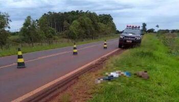 Mulher é avisada por desconhecido que irmão foi morto e jogado em rodovia de Ponta Porã