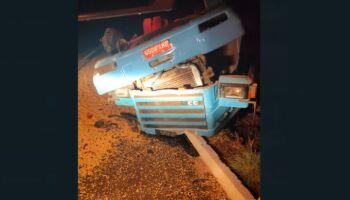 Motorista morre esmagado por caminhão e corpo fica horas à espera de perícia em Camapuã