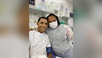 Em MS, paciente com câncer se casa com sua amada em UTI do Hospital Cassems