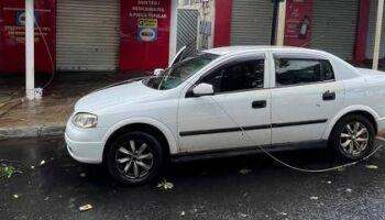 Criança sofre parada cardíaca após carro ser atingido por rede elétrica em BH