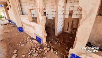 Ceinf abandonada há 10 anos amarga vida de moradores no Jardim Anache