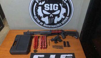 Homem é preso com armas de fogo e munições em MS