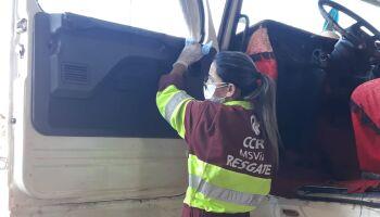 Higienização de cabines de caminhões está sendo feita na BR-163