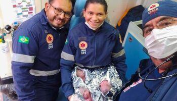 Sem saber que estava grávida de trigêmeos, mulher dá à luz em casa