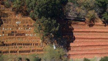 Brasil atinge 28.834 mortes por Covid-19 e passa a França no número de vítimas