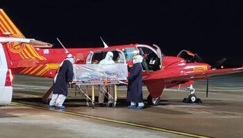 Bombeiros fazem resgate de brasileiro com covid-19 na Bolívia; paciente está na UTI