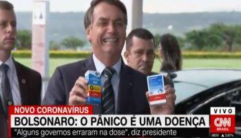 'Bolsonaro curtiu': OMS diz retomar testes com a hidroxicloroquina