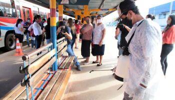 Terminais de ônibus continuam sendo descontaminados pela Prefeitura