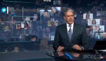 VÍDEO: para rebater Bolsonaro, JN aciona 'plantão' sem necessidade e divulga dados da covid