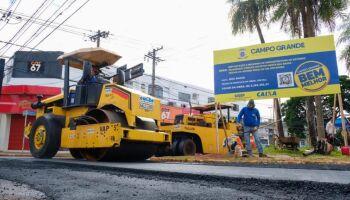Recapeamento na rua Bahia entra em fase final e termina em uma semana