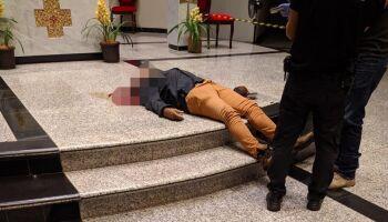Homem mata a esposa, atira nos filhos e se mata em igreja de Dourados