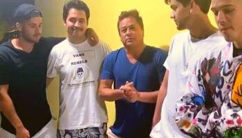 VÍDEO: Leonardo tranquiliza fãs e diz que filhos, motorista e sobrinho passam bem após acidente