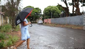 Chuva e ventania atingem alguns bairros de Campo Grande