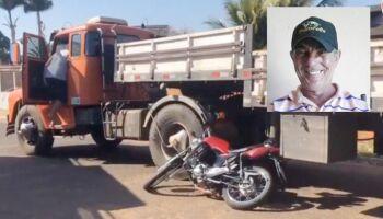 Mototaxista morre atropelado por carreta em Aparecida do Taboado