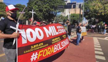 Trabalhadores se unem em protesto em defesa da vida e dos empregos em Campo Grande