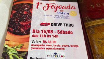 Sábado tem Feijoada do Rotary Club e vai ser no sistema drive thru em Campo Grande
