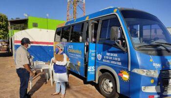 Ônibus da Blitz Covid retoma atendimento nesta semana