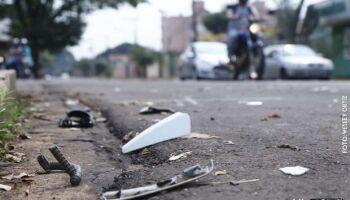 Motociclista ferido em acidente na Coophavilla morre na Santa Casa