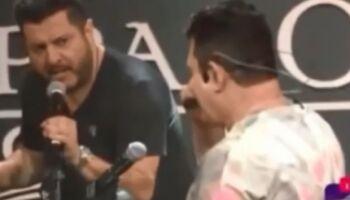 Bruno fica irritado com parceiro e manda Marrone se F em live; veja o vídeo