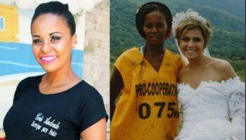 Mulher retirada do lixão por atriz brasileira virou dona de bufê