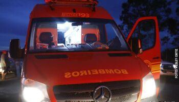 Passageira morre após carro cair de ponte na MS-352