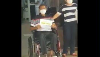 VÍDEO: paciente vence a covid e deixa HU em Campo Grande ao som de louvor