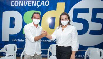 Pedido de candidatura de Trad e Adriane Lopes é formalizado à Justiça Eleitoral