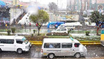 Chuva não chega em Corumbá, mas na Bolívia tem até temporal e nevasca