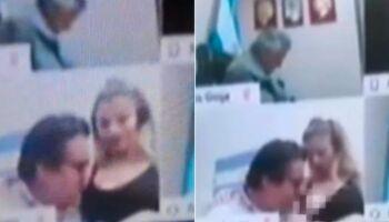 Deputado argentino toca e beija os seios de mulher em sessão virtual da Câmara