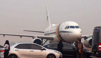 Durante voo em MT, avião com Bolsonaro arremete por conta da fumaça