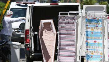 Brasil tem 728 mortes pela covid-19 em 24 horas e total está perto de 145 mil