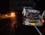 Motorista invade pista contrária e morre em batida com carreta na BR-158