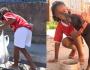 Menina de 7 anos cata latinhas para comprar ração para cães de rua