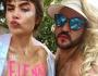 Maria Casadevall faz topless e protesta contra Bolsonaro em bloco de carnaval