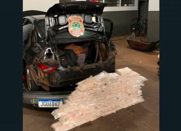Polícia Federal prende mecânico com 85 kg de cocaína em Dourados