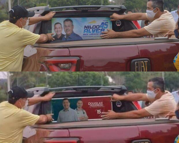 NA LATA: apoiadores de candidato fazem montagem criminosa em Anastácio
