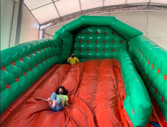 Sem diversão durante a pandemia, crianças do projeto Recriar se divertem em parque recreativo