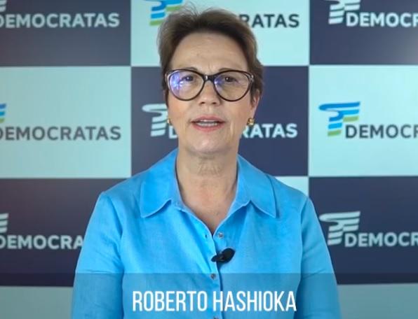 VÍDEO: em Nova Andradina, Hashioka ganha apoio da ministra Tereza Cristina
