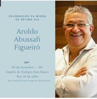 Padre José Marinoni reza missa de 7º dia da morte de Aroldo Figueiró