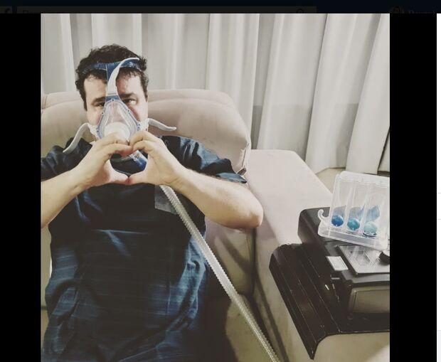 Deputado segue fortalecendo pulmões em casa após ter sido infectado pela Covid-19